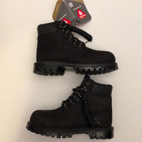 a8d35eb5e87 Timberland toddler boots black New 6 INCH NWT